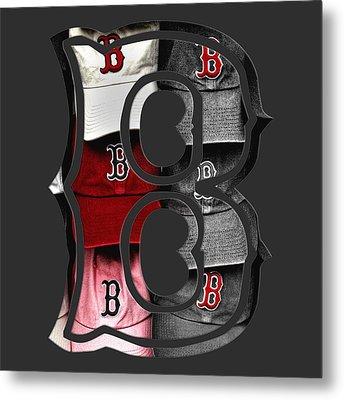 Boston Red Sox B Logo Metal Print by Joann Vitali