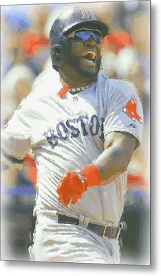 Boston Red Sox David Ortiz 3 Metal Print by Joe Hamilton