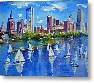Boston Skyline Metal Print by Diane Bell