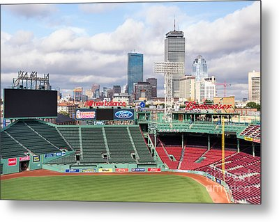 Boston Skyline From Fenway Park Metal Print by Dawna  Moore Photography