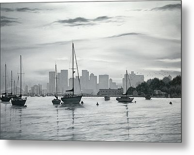 Boston Skyline  Metal Print by Matthew Martelli