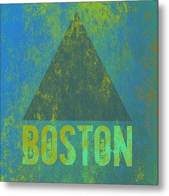 Boston Triangle V2 Metal Print by Brandi Fitzgerald