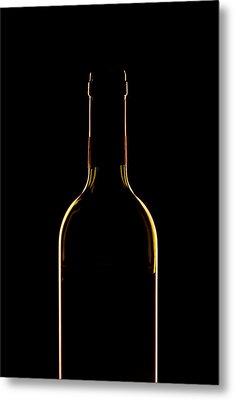 Bottle Of Wine Metal Print by Andrew Soundarajan