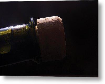 bottle top and Cork Metal Print by Steve Somerville