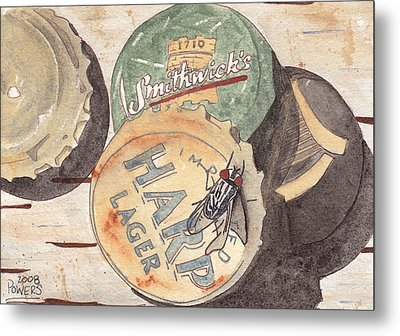 Bottlecaps And Barfly Metal Print by Ken Powers