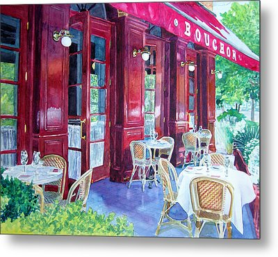 Bouchon Restaurant Outside Dining Metal Print by Gail Chandler