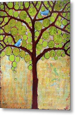 Boughs In Leaf Tree Metal Print by Blenda Studio