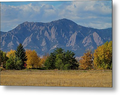 Boulder Colorado Autumn Flatiron Afternoon Metal Print by James BO Insogna