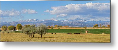 Boulder County Front Range Panorama View Metal Print by James BO Insogna