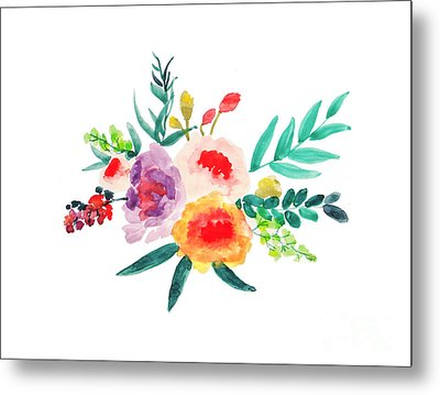 Bouquet Chic Metal Print by Rasirote Buakeeree