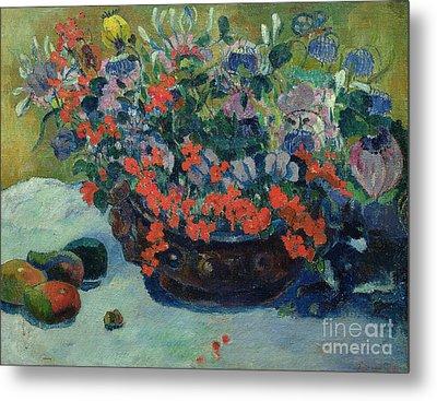 Bouquet Of Flowers Metal Print by Paul Gauguin