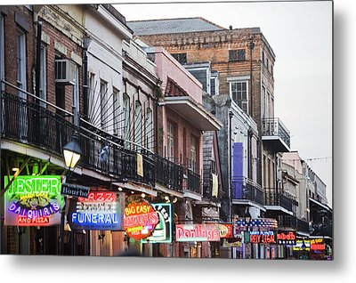 Bourbon Street At Dusk Metal Print by Taylor S. Kennedy