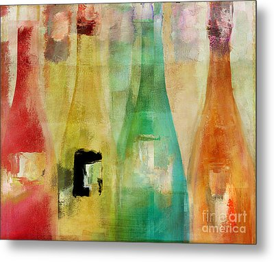Bouteilles Metal Print by Mindy Sommers