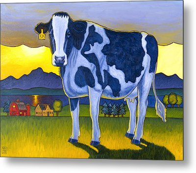 Bovine Whidbey Metal Print by Stacey Neumiller