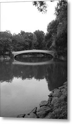 Bow Bridge And The Lake Metal Print by Christopher Kirby