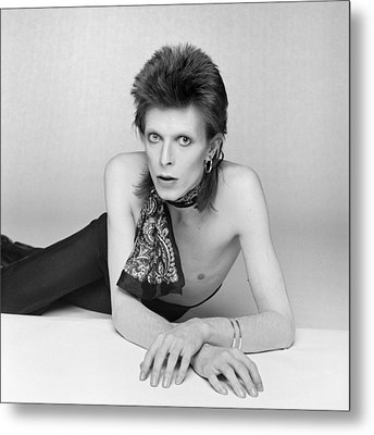 Bowie Diamond Dogs Shoot  Metal Print by Terry O'Neill