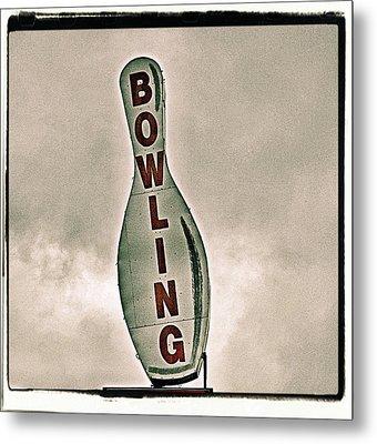 Bowling Metal Print by Photograph by Bob Travaglione FoToEdge