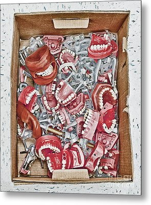 Box Of Dental Equipment Metal Print by Skip Nall