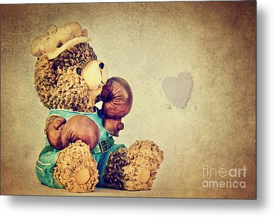 Boxer Bear II Metal Print by Angela Doelling AD DESIGN Photo and PhotoArt