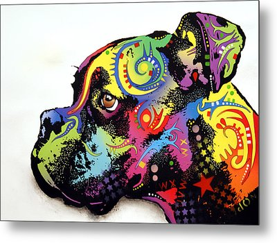 Boxer Metal Print by Dean Russo