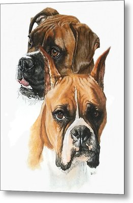 Boxers Metal Print by Barbara Keith