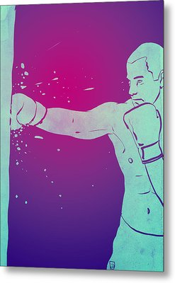 Boxing Club 6 Metal Print by Giuseppe Cristiano