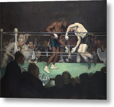 Boxing Match Metal Print by George Luks