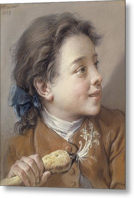 Boy With A Carrot, 1738 Metal Print by Francois Boucher