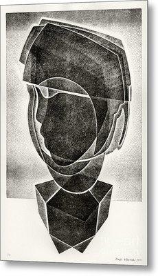 Boy's Head Metal Print by Alex Kveton