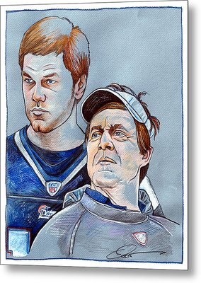 Brady And Belichick Metal Print by Dave Olsen
