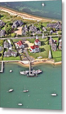 Brant Point Coast Guard Station Nantucket Harbor 2 Metal Print by Duncan Pearson