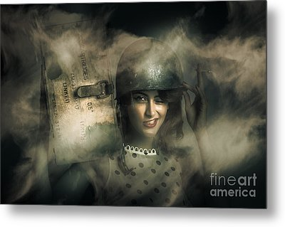 Brave Army Pinup Metal Print by Jorgo Photography - Wall Art Gallery