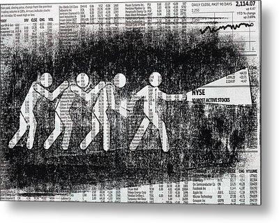 Brave Stock Broker Metal Print by Igor Kislev