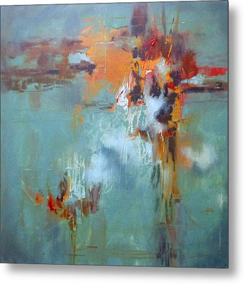 Breaking Free Abstract Metal Print by Donna Shortt