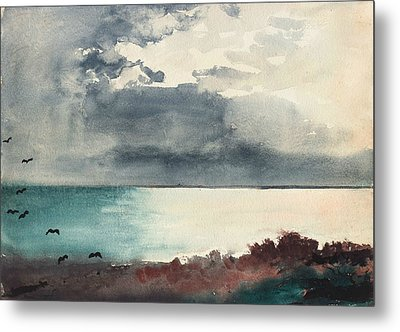 Breaking Storm Coast Of Maine Metal Print by Winslow Homer