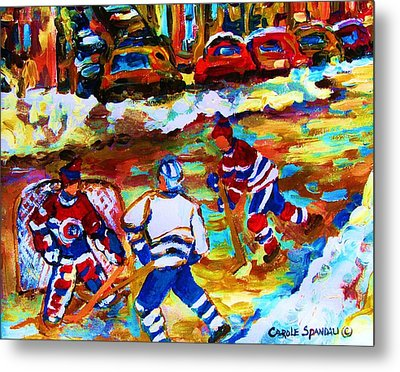 Breaking  The Ice Metal Print by Carole Spandau