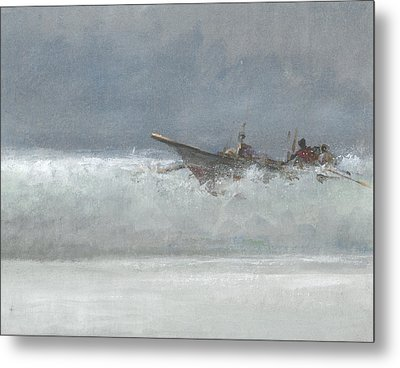 Breaking The Surf  Sri Lanka Metal Print by Lincoln Seligman