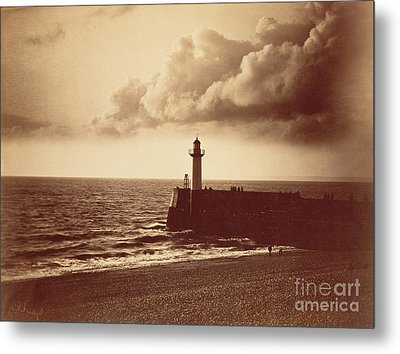 Breakwater At Sete Metal Print by Gustave Le Gray