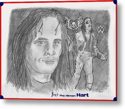 Bret The Hitman Hart Metal Print by Chris  DelVecchio