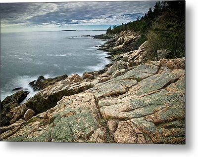 Brewing Storm Over Otter Point Metal Print by Brent L Ander
