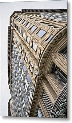 Brick And Steel And Glass Metal Print by Christopher Holmes