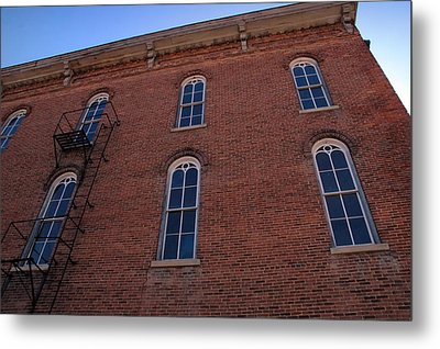 Brick Face Metal Print by Ross Powell