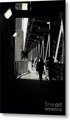 Bridge - Lower Lakeshore Drive At Navy Pier Chicago. Metal Print by Frank J Casella