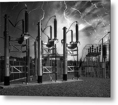 Bridge St Power Substation 2 - Spokane Washington Metal Print by Daniel Hagerman