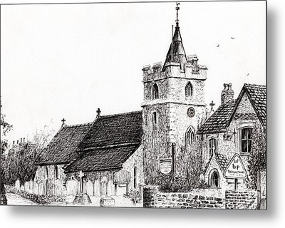 Brighstone Church Metal Print by Vincent Alexander Booth