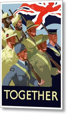 British Empire Soldiers Together Metal Print by War Is Hell Store