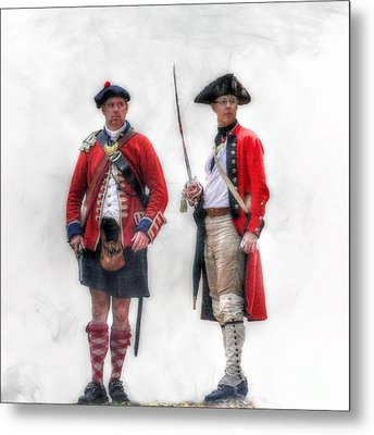 British Officer And Soldier Metal Print by Randy Steele