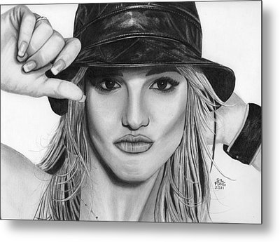 Britney Spears Metal Print by Gil Fong