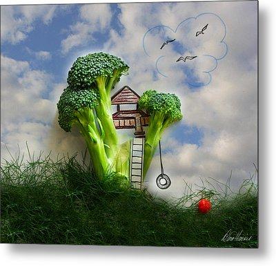 Broccoli Treehouse Metal Print by Diana Haronis