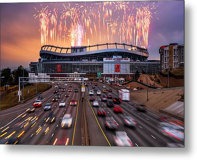 Broncos Win Afc Championship Game 2016 Metal Print by Darren White